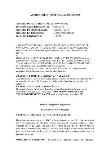 ACT GVT 2012-2013 - Sinttel-DF