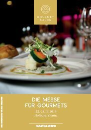 Die Messe für GourMets - GourmetSalon