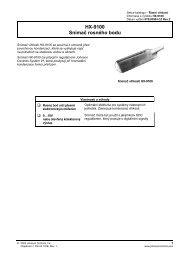 HX-9100 Snímač rosného bodu - MarInfo