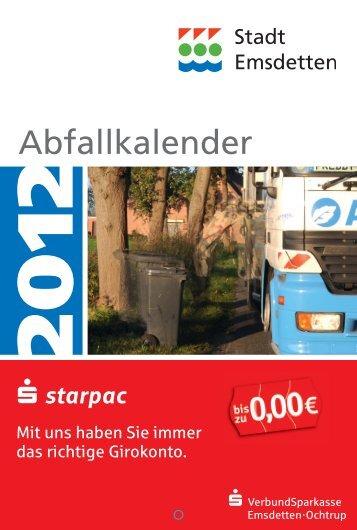 Abfallkalender 2012 - in der Stadt Emsdetten