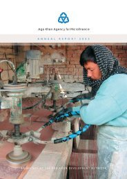The 2005 Aga Khan Agency for Microfinance Annual Report