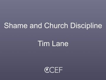 Matthew 18:15 - CCEF