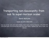 Transporting non-Gaussianity from sub to super-horizon scales