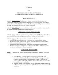 to view the current bylaws just amended in June 2013. - UCSF Alumni