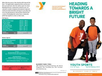 Fall 2013 Youth Sports Brochure - YMCA of Greater Charlotte