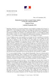 Déclaration de Jean-Marc Ayrault