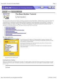 bean-builder: Tutorial for The Bean Builder