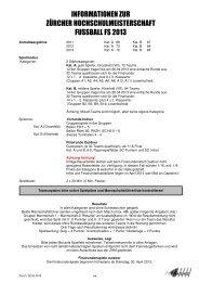 Informationen zu Spielplan - ASVZ