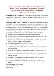 informacje o zakres i formy działania instytucji publicznych