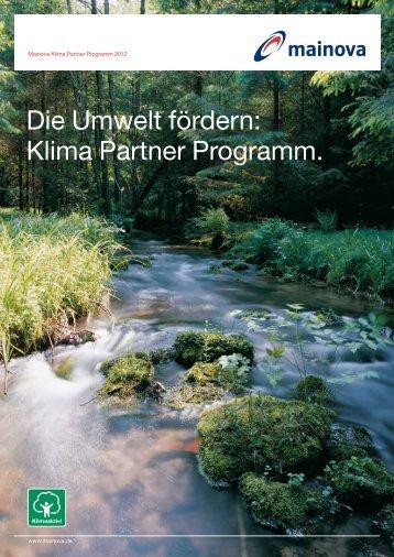 Mainova Klima Partner Programm Broschüre (pdf | 1,10 - Mainova AG