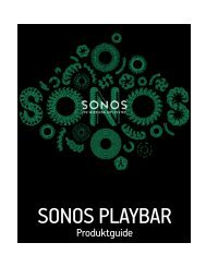 SONOS PLAYBAR Product Guide - Almando