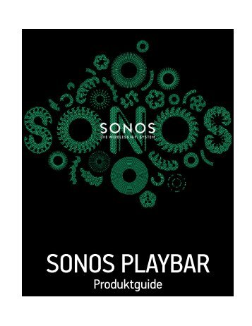 SONOS PLAYBAR Product Guide - Almando
