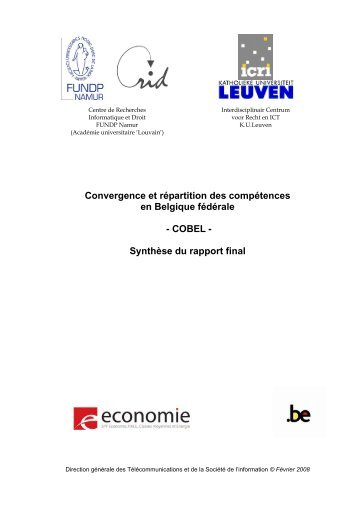 Synthèse du rapport final - crids