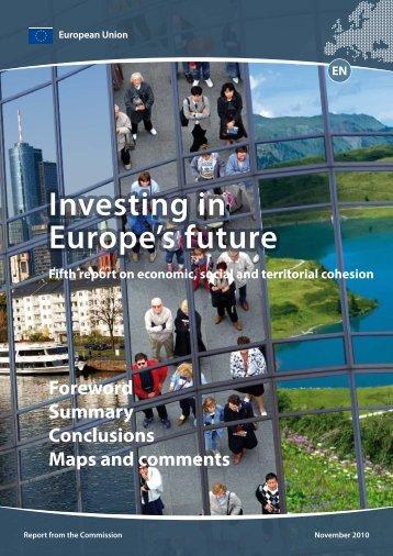 Investing in Europe's future