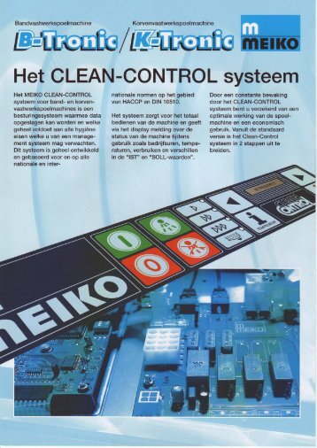 Het CLEAN-CONTROL systeem - Bouter