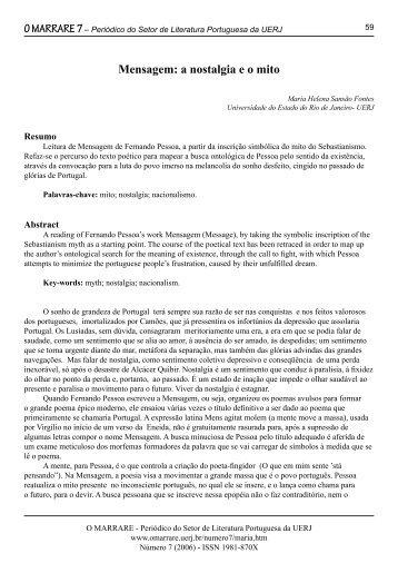 Periódico do Setor de Literatura Portuguesa da UERJ - O Marrare
