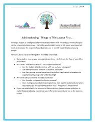 Job Shadowing - Guilford Education Alliance