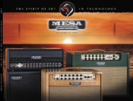 Covers & Contact Info - Mesa Boogie