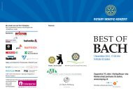 best of bach – programm - J. S. Bach-Stiftung