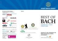 best of bach – programm - J. S. Bach-Stiftung