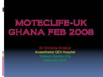 MOTEC-UK GHANA FEB 2008 - MOTEC LIFE-UK
