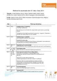 Referat fra styremøte den 07. Mai i Oslo 2011 - Unge ...