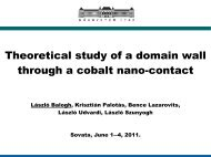Theoretical study of a domain wall through a cobalt nano-contact