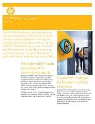 HP TRIM Rendering module Data sheet US-Eng - Zift Solutions