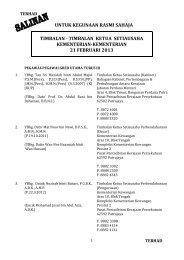 timbalan ketua setiausaha kementerian-kementerian 21 februari 2013