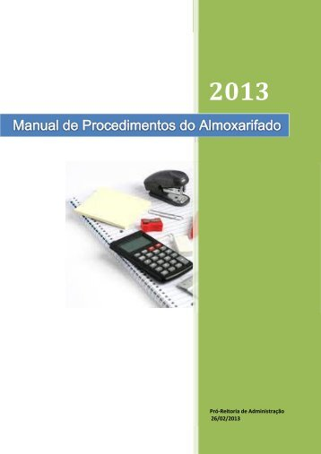 Manual de Procedimentos do Almoxarifado Central - Reitoria ...