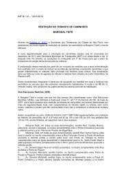 10/01/2012 Restrição no trânsito de caminhões - Fecomercio