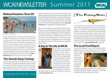 WCAI NEWSLETTER Summer 2011 - WGBH