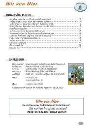 inhaltsübersicht - Gewerbeverein Todtenhausen-Kutenhausen eV