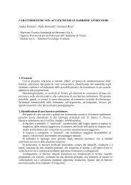 Caratteristiche non acustiche delle barriere antirumore - Agenzia ...