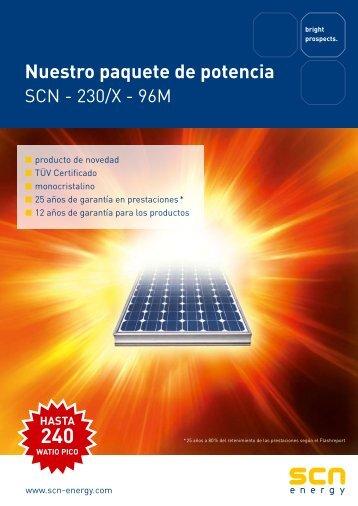 Panel fotovoltaico SCN230 Monocristalino