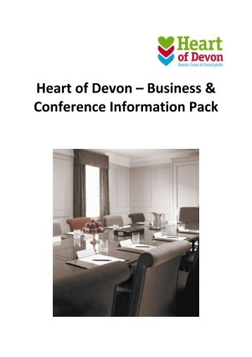 Heart of Devon – Business & Conference Information Pack