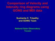 Comparison of velocity and intensity ring diagrams using GONG and ...