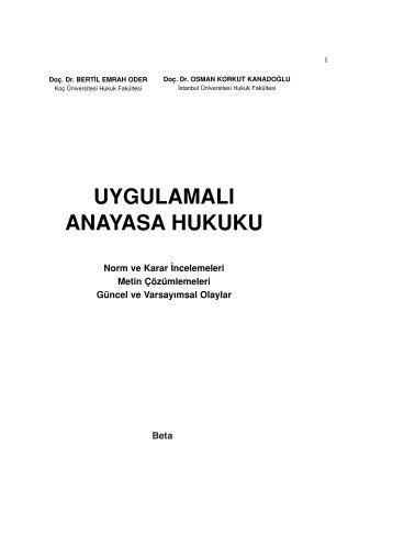 uygulamalı anayasa hukuku - Hukuk Market