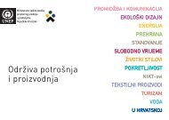 Brošura: Održiva potrošnja i proizvodnja - Ministarstvo zaštite ...
