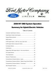 OBD System Operation Summary for Hybrid Electric Vehicles(HEV)
