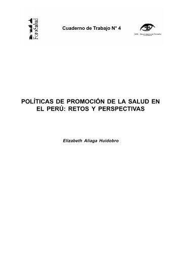 políticas de promoción de la salud en el perú: retos y ... - BVSDE