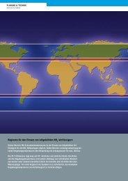 Regionen für den einsatz von luftgekühlten nh -Verflüssigern