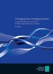 Changing lives, changing practice - College of Occupational ...
