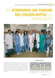 Lo screening dei tumori del colon-retto un anno dopo