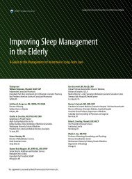 Improving Sleep Management in the Elderly - Annals of Long Term ...