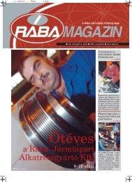 Magazin letöltése PDF formátumban - Rába