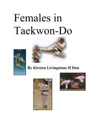 By Kirsten Livingstone II Dan - International Taekwon-Do