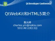 Intro to Qt WebKit and HTML 5 — Yin Charles