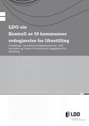 LDO sin kontroll av 50 kommuner - Likestillings- og ...