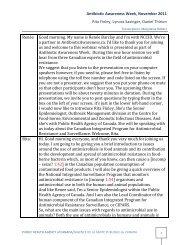 read the transcript - Antibiotic Awareness